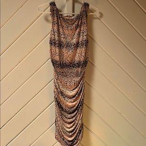 Cache Pink leopard dress